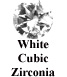White Cubic Zirconia Example
