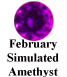February Simulated Amethyst Example