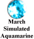 March Simulated Aquamarine Example