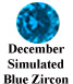 December Simulated Blue Zircon Example