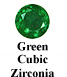Green Cubic Zirconia Example