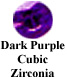 Dark Purple Cubic Zirconia Example