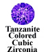 Tanzanite Colored Cubic Zirconia Example
