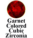 Garnet Colored Cubic Zirconia Example