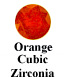 Orange Cubic Zirconia Example