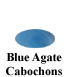 Blue Agate Cabochon Example
