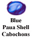 Blue Paua Shell Cabochon Example