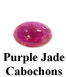 Purple Jade Cabochon Example